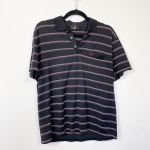 Dunhill London Engineered Fit Golf Shirt Black Lrg